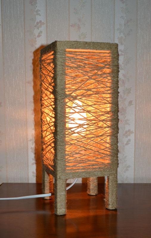 лампа льняное гнездо 2