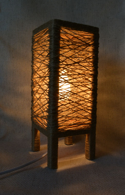 лампа льняное гнездо 4
