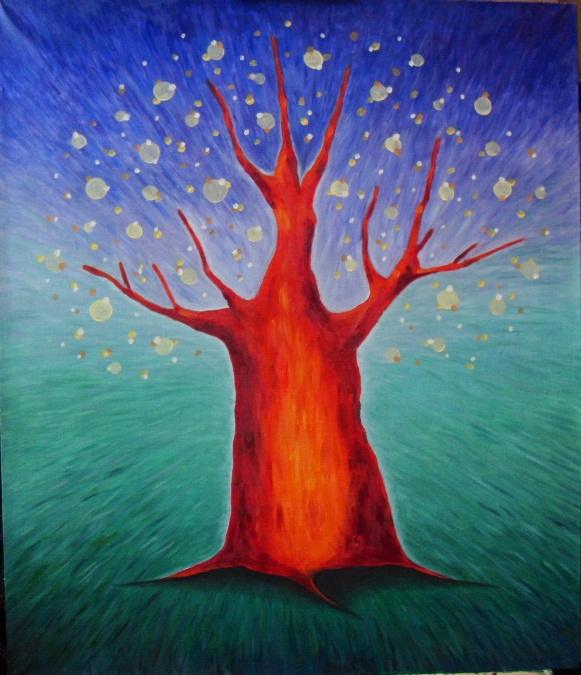 картина Дерево желаний, декоративная картина для интерьера