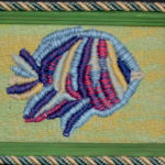 картина Волшебная рыба. Декоративная вышивка, мулине, рамка
