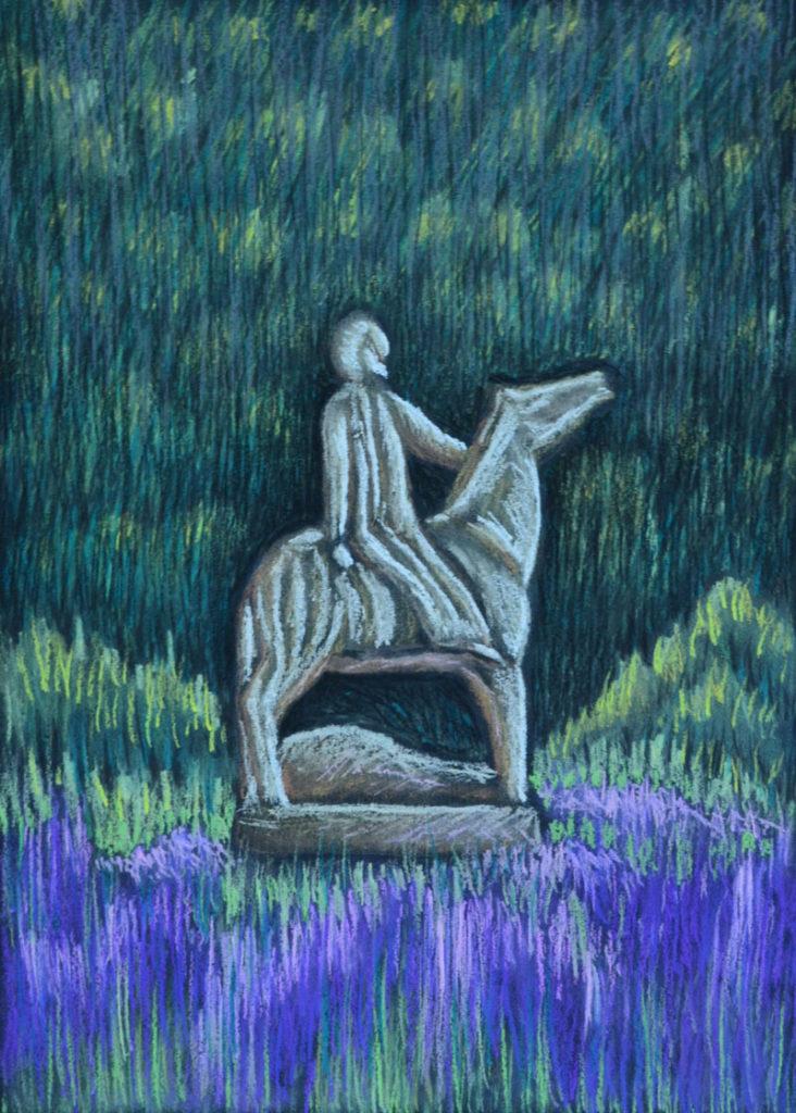 картина Всадник, декоративная картина для интерьера