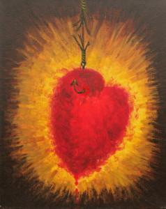 """картина """"Сердце на крючке"""""""