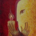 картина Хранитель Огня. Холст, акрил, 30х30 см