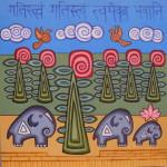 картина Мое Прибежище Бхавани. Холст, акрил, 50х50 см