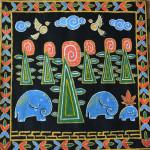 картина Бхарата, Бхарата, холст, темпера, 45х45 см