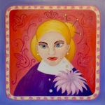 картина Русская Гейша, холст, масло, 80х80 см