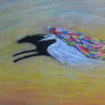 картина Ветер пустыни. Картон, сухая пастель, 30х40 см, художник Мария Текун
