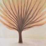 Дерево второе, бумага, гуашь, 30х40 см