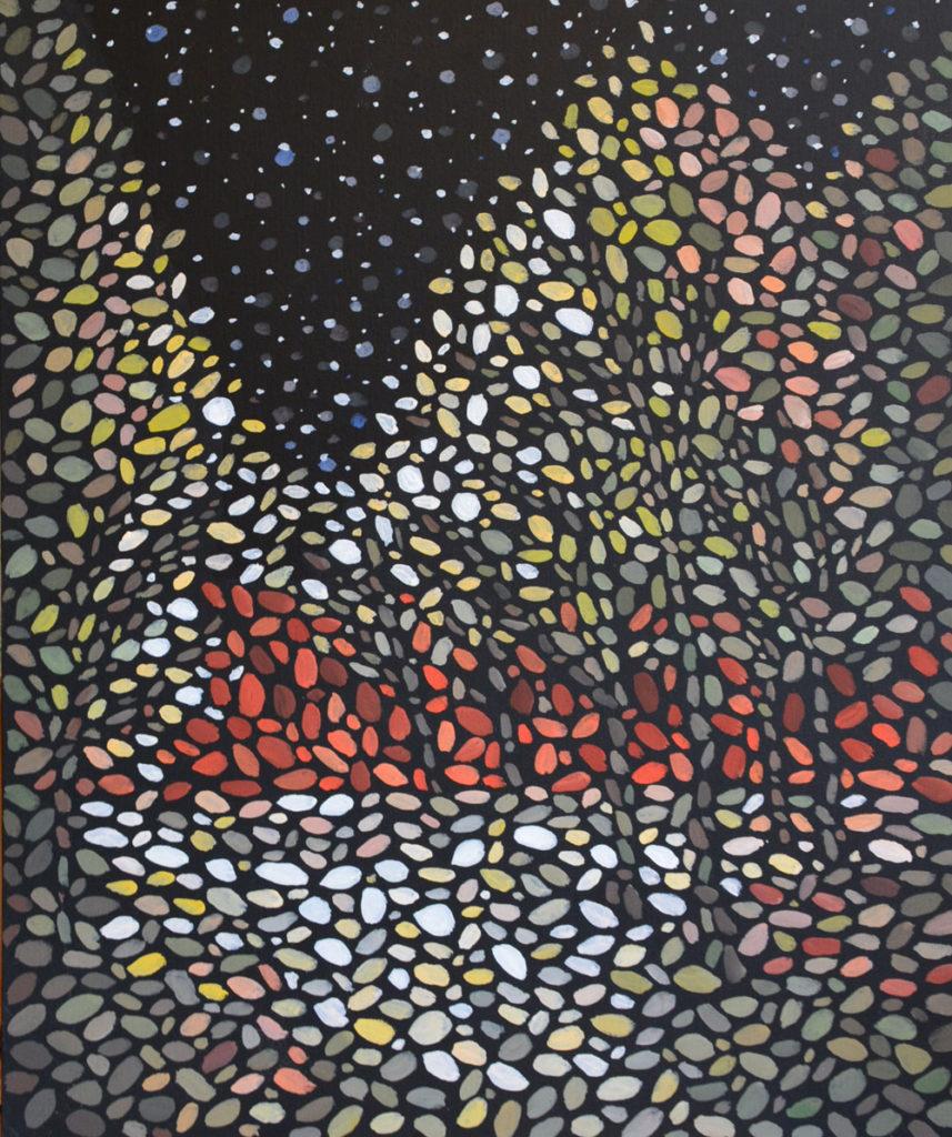 Красная Стена картина темперой на холсте, картина художника, живопись темперой, уникальная необычная картина художник Мария Текун maryatekun.ru
