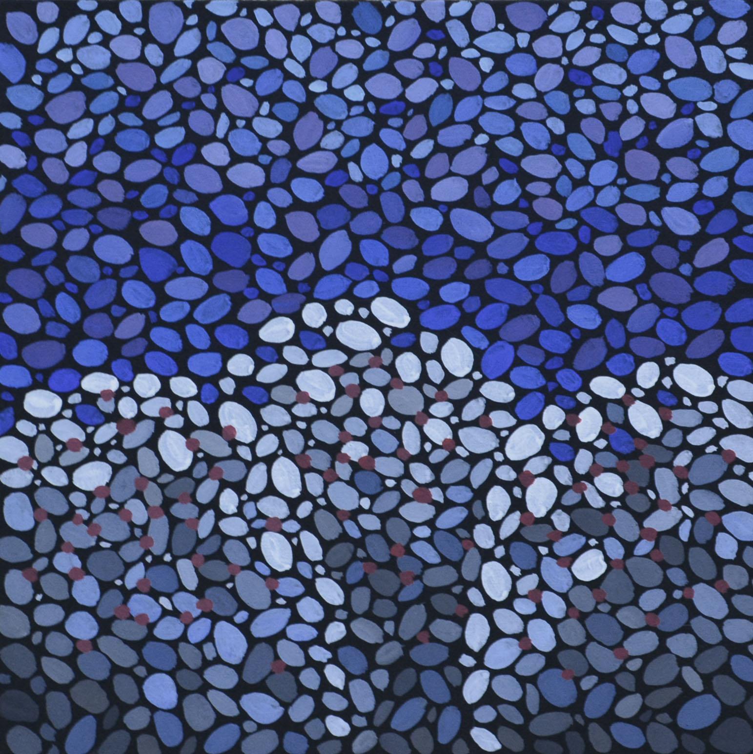картина Зимний сад. Холст, темпера, 40х40 см