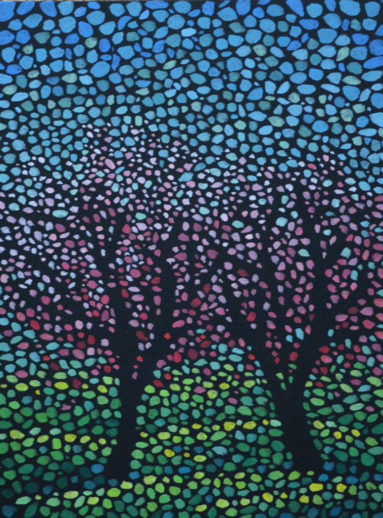 Весна идет! картина темперой на холсте, картина художника, живопись темперой, уникальная необычная картина художник Мария Текун maryatekun.ru