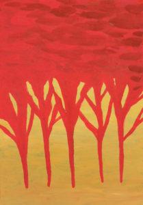 Красный лес мета-карта метафорическая карта интуитивная карта психология подсознательного интуиция иные миры художник Мария Текун