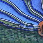 Солнце в траве. Холст, темпера, 25х45 см - Художник Мария Текун