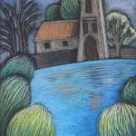 Старая набережная. Картина, картона, сухая пастель, 30х40 см - Художник Мария Текун