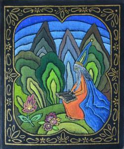 картина Вечный Ом, холст, темпера, 40х50 см