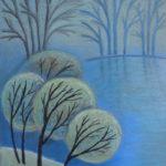 Первые заморозки. Картина, картон, сухая пастель, 30х40 см - Художник Мария Текун