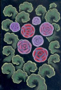 картина Цветение, явление 2, артон, сухая пастель, 30х40 см
