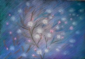 Цветение, явление 1, артон, сухая пастель, 30х40 см