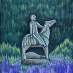 Всадник. Картина, картон, сухая пастель, 30х40 см - Художник Мария Текун