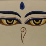 Глаза Будды. Картина, холст, акрил, 30х40 см - Художник Мария Текун