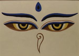 картина Глаза Будды. Холст, акрил, 30х40 см