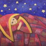 Лоскутное одеяло снов. Картина, холст, акрил, 30х40 см - Художник Мария Текун