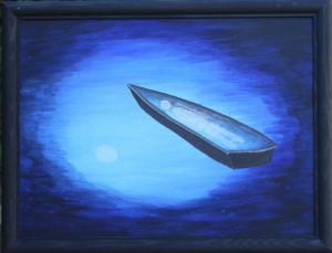 картинаПустая лодка. Холст, акрил, 30х40 см