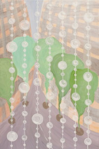 картина Дождь идет. Холст, акрил, 50х70 см