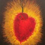 Сердце на крючке. Картина, холст, акрил, 40х50 см - Художник Мария Текун
