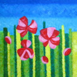 картина Красное поле, вариант 2. Холст, акрил, 40х50 см