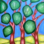 Лес. Картина, холст, акрил, 60х80 см - Художник Мария Текун