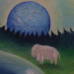Меланхолия. Картина, холст, акрил, смешанная техника, 40х50 см - Художник Мария Текун