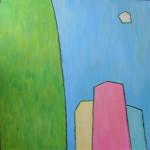 Прощай, любимый город. Картина, холст, акрил, 50х50 см - Художник Мария Текун