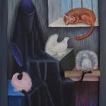 Волшебник в отпуске. Картина, холст, акрил, 30х40 см - Художник Мария Текун