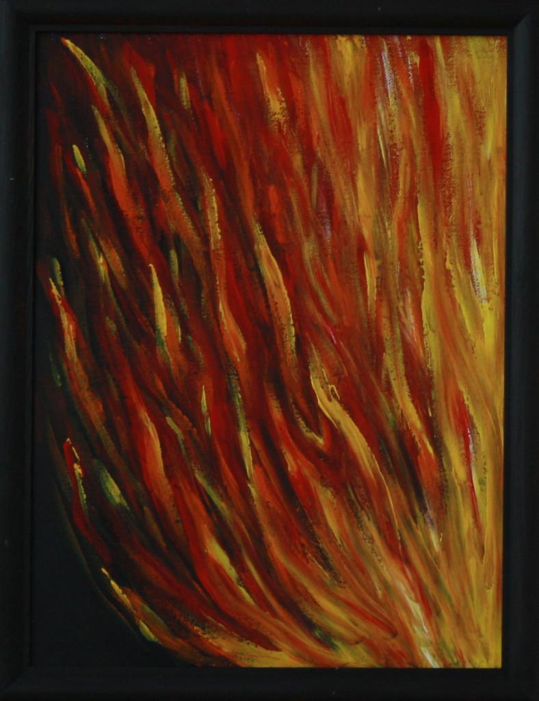 Огонь. Картина, холст, акрил, 30х40 см - Художник Мария Текун