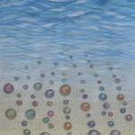 картина Море и песок. Бумага, гуашь, 30х40 см,