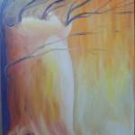 Ветер. Картина, холст, масло, 30х40 см - Художник Мария Текун