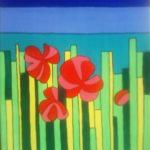 Красное поле. Картина, холст, акрил, 40х50 см - Художник Мария Текун