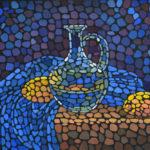 Натюрморт с графином. Картина, холст, темпера, 40х60 см, 2016 г. - Художник Мария Текун