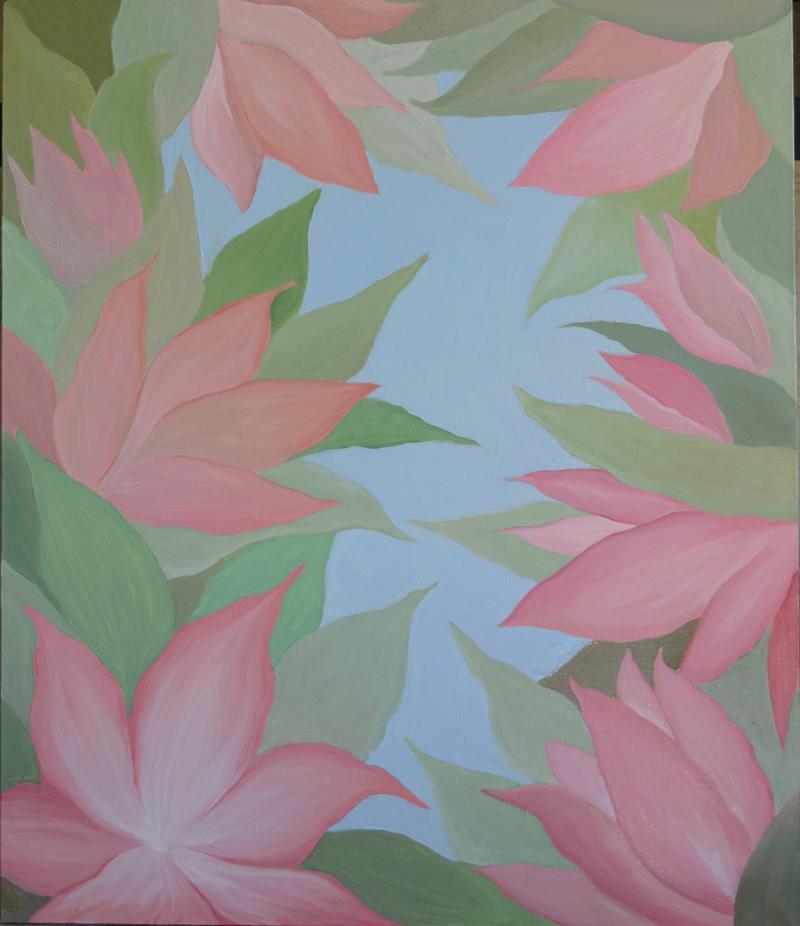 Окно в сад картина, холст, масло, 50х60 см - Художник Мария Текун maryatekun.ru