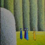Разговор. Картина, холст, масло, 60х80 см - Художник Мария Текун