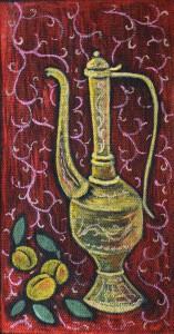 картина Старый кунган, холст, темпера, 25х45 см