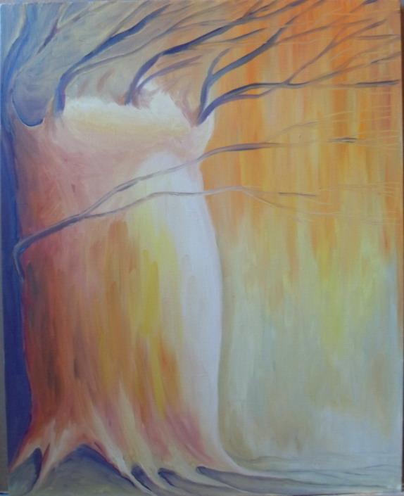 Ветер картина, холст, масло, 30х40 см - Художник Мария Текун maryatekun.ru