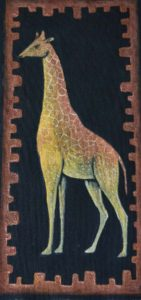 Жираф. Холст, темпера, 30х50 см - Художник Мария Текун