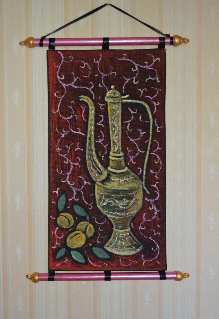 Старый кунган, свиток, картина с оформлением на стене