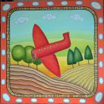 Полет. Картина, холст, масло, 80х80 см - Художник Мария Текун