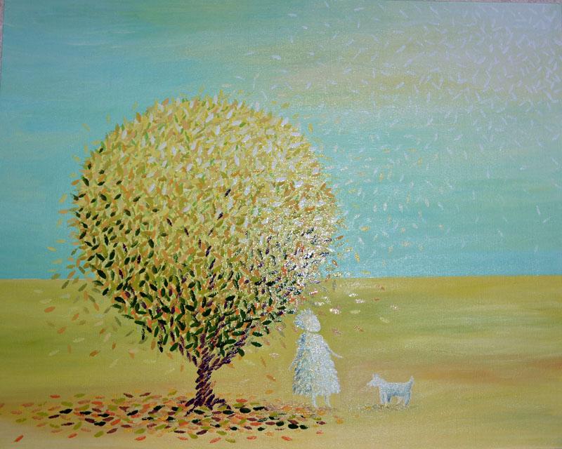 Прогулка картина, холст, масло, 40х50 см - Художник Мария Текун maryatekun.ru