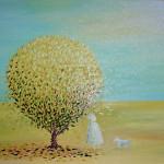 Прогулка. Картина, холст, масло, 40х50 см - Художник Мария Текун