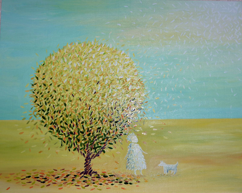Прогулка картина маслом на холсте, картина художника, живопись маслом, необычные картины, художник Мария Текун maryatekun.ru
