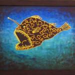 Рыба-удильщик. Картина, холст, акрил, 30х40 см - Художник Мария Текун